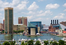 View of Baltimore Inner Harbor